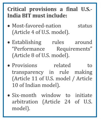 Us India Insight Do Not Give Up On The Bilateral Investment